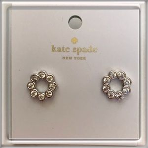 Kate Spade silver/glass stud earrings NWT